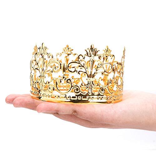 Little Vintage Crown Cake Topper Royal Moted Baby Shower Dekorationen Prinzessin und Prinz Kopfbedeckung diameter 3.97 inch height 2.28 inch (Kind's Royal Prinz Kostüm)