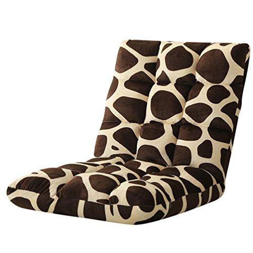 YouPue Bodenstuhl Bequem Falten Rückenlehne Leute Faul Couch Tatami RückenlehneSofa Stuhl Schlafzimmer Kleines Sofa Leopard Drucken