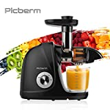 Juicer Machine, Picberm Slow Masticating Juicer for Nutrients Preservation Anti-Clogging Easy to Clean