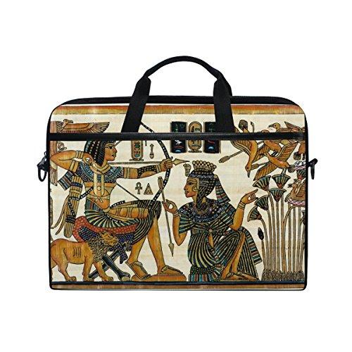 jstel Ägyptische mit Pharao Laptop Schulter Messenger Tasche Fall Sleeve für 35,6cm zu 39,6cm mit verstellbarer Notebook Schultergurt (Ägyptische Tasche)