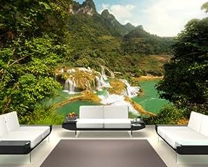 "Bilderdepot24 self-adhesive photo wallpaper ""Ban Gioc–Detian Falls, Vietnam II"" 141.73 inch x 90.55 inch ( 360x230 cm ) - direct sale by the manufacturer!"