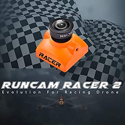 Hankermall RunCam Racer 2 FPV Camera 1.8mm Lens 700TVL FOV160 4:3/Widescreen NTSC/PAL Switchable Super WDR OSD PAL 6ms Low Latency Micro FPV Cam for Racing Drone