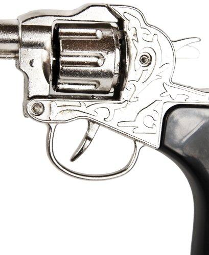 Metall Kinder-Revolver Erwachsenen-Revolver 8 Schuss 18cm Cowbay-Revolver Fasching Cowboy-Kostüm