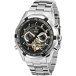 Forsining Men's Luxury Automatic Day Calendar Tourbillon Brand Collection Wrist Watch FSG340M4T1