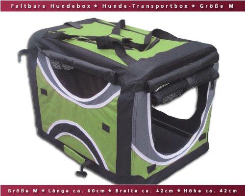 Faltbare Hunde-Transportbox / Auto-Transportbox M Grün-Schwarz