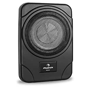 auna 8sub ac caisson de basses actif auto plat boitier m tal 100w rms subwoofer 8 amazon. Black Bedroom Furniture Sets. Home Design Ideas