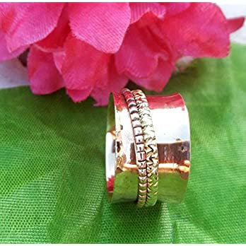 Meditationsringe, Spinnerringe, Silberringe für Frauen, Spinning Ring for Women, Spinning Band Rings, Anxiety Ring for…