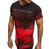 DAY.LIN T Shirts Männer Herren Mode Persönlichkeit Tarnung Herren Beiläufig Schlank Kurzarm Hemd oben Bluse Herren Ca