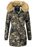 Marikoo Damen Winter Mantel Winterparka Karmaa XS-XXXXXL (vegan hergestellt) Camouflage Gr. S