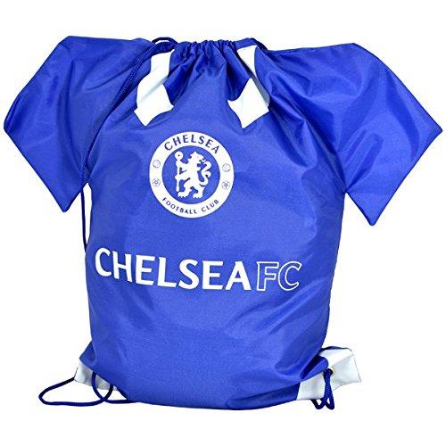 Fußball-Turnbeutel in Fußball-Trikot-Form, Original-Team-Design, mit Kordelzug (wählen Sie Ihr Team) - Chelsea FC