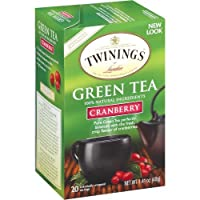 Twinings Cranberry Green Tea Box, 40 Count