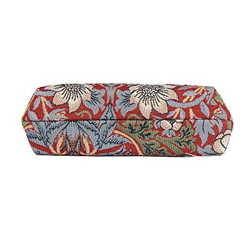 Borsetta donna Signare alla moda in tessuto stile arazzo a spalla borsa messenger a tracolla floreale Ladro di fragole rosse