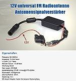 NAVISKAUTO Radio Antenne Signal Verstärker Verstärkung 12V Audio Stereo FM AM für Fahrzeug KFZ Autoradio Y0015 Vergleich