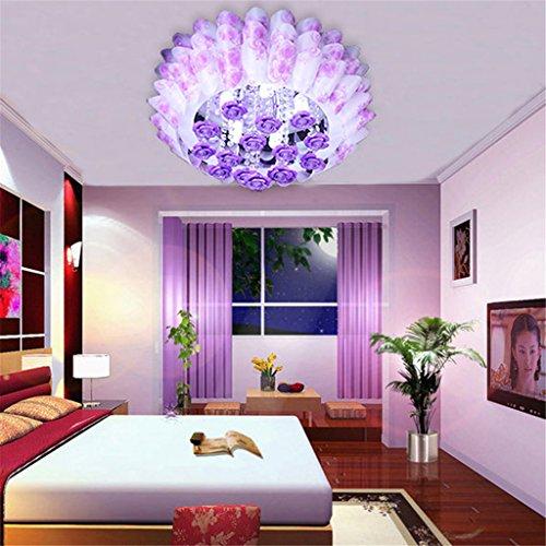 GMM® Deckenleuchte Zimmer Romantische Warm LED Acryl Rund Die Kammer der Kinder Deckenleuchte violett (Acryl-kammer)