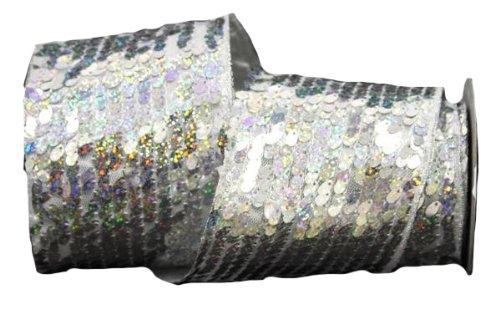 Renaissance 2000Band, 4-Zoll, Silber Pailletten mit Gold Lame Rückseite -