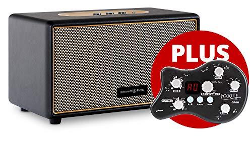 Bennett & Ross Blackmore Guitar Pack (Set bestehend aus Premium Bluetooth Lautsprecher und Kopfhörerverstärker/Multieffekt Gerät)