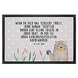 Mr. & Mrs. Panda 40 x 60 Fußmatte Otter mit Stein - Otter Seeotter See Otter Fußmatte, Türvorleger, Schmutzmatte, Fussabtreter, Matte, Schmutzfänger