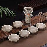 GBCJ Teeservice aus Keramik Einzelset aus hochwertigen Retro-Antik-Teesätzen Teeset aus Teekanne aus Teekanne Tee-Set, Schwarzer Tee - Alles ist gut