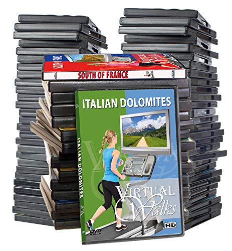 Virtuelle Spaziergänge DVD Supersale Kollektion - 44 DVD Dis Set für Inddor Walking Workouts - Jogging Laufen Walk Übungen Fitness Motivation