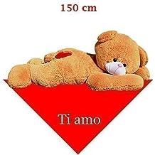 150 cm pupazzo orso gigante di peluche XXL Peluche Orso panno disteso ti amo