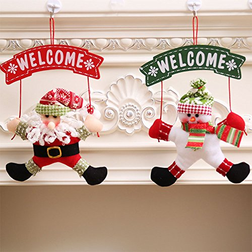 Beautyrain 1 STÜCKE Weihnachten Hängende Dekorationen Festliche Partei Liefert Santa für Decken, Wände und Tür