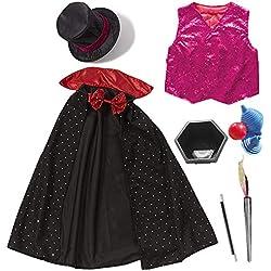 cheerfulus Conjunto de Disfraces de Mago para niños Magic Show Theme Cosplay Dress Up Traje de niños Mejor Regalo de Fiesta de cumpleaños de Halloween de la Navidad