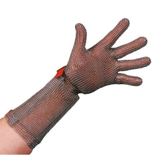 Stahlnetz Stechschutzhandschuh PROTEC 8 cm Stulpe, EN 1062, Größe XL
