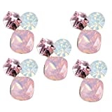 B Baosity 5x Bei Bottoni Strass Rosa Flatback Abbellimento Arti E Mestieri Di DIY