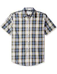 Amazon Essentials Regular-fit Short-Sleeve Plaid Shirt Hombre