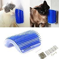 Tpocean Cat - Cepillo de masaje para esquina de gato con juguete para gatos