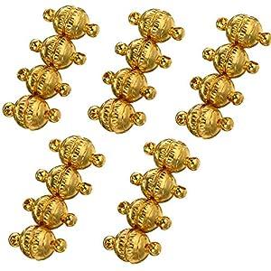 20 Stücke Magnetverschlüsse, magnetschließe Schmuck Magnetverschluss Runde Magnetverschlüsse für Armband Halskette Making, DIY Zubehör 8 mm(Gold)