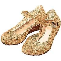 Little-Peach Sandalias de Princesa para Niñas Disfraz para Halloween Fiesta Cumpleaños Navidad EU26-33