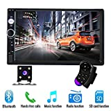 17,8 cm Doppel Din Auto Radio Audio Bluetooth Touch MP5 Player USB FM Android Telefon Spiegel Link Entertainment Multimedia Stereo + 4 LED Mini Rückfahrkamera mit Lenkradfernbedienung