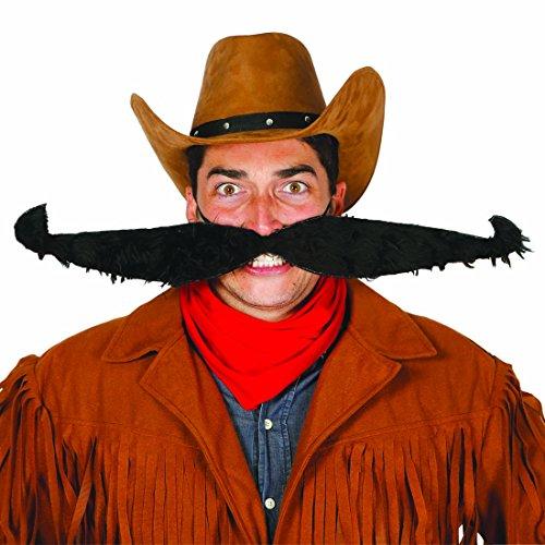 künstlicher Schnäuzer Falscher Schnurrbart XXL Künstlicher Oberlippenbart Unechter Schnauzbart Bärte zum Ankleben Mexikaner Cowboy (Bart Cowboy)