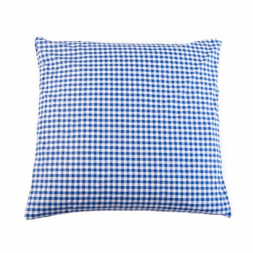 TextilDepot24 Landhaus Kissenbezug 40x40 cm Blau Karo 1x1 cm Bauernkaro Baumwolle kariert durchgewebt RV -