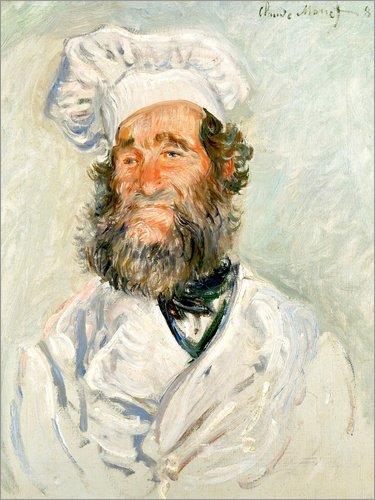 Leinwandbild 90 x 120 cm: Der Koch von Claude Monet / akg-images - fertiges Wandbild, Bild auf Keilrahmen, Fertigbild auf echter Leinwand, Leinwanddruck