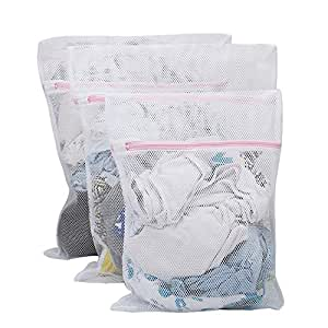 Hokipo Mesh Laundry Clothes Washing Bag, Pack Of 3