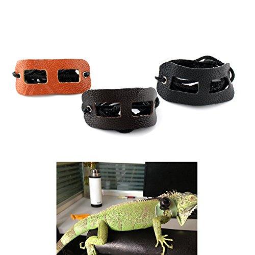 Verstellbares Geschirr für Kleintiere / Reptilien / Eidechsen, PU-Leder, mit Leine -