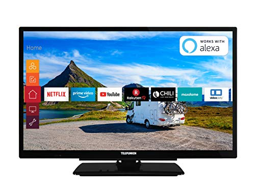 Telefunken XH24G501V 61 cm (24 Zoll) Fernseher (HD-ready, Triple Tuner, Smart TV, Prime Video, 12 Volt) (Tv 24 Zoll Led)