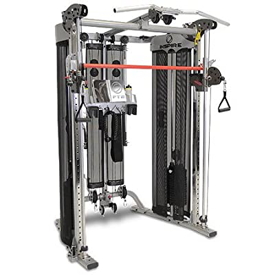 Inspire Fitness FT2 Functional Trainer + Inspire SCS Bench, Weight Stack Upgrade, Leg Developer Attachment & FT2 Leg Extension Conversion Kit from Inspire Fitness