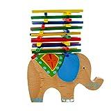 Juguete de Mesa Barra de Equilibrio de Manos Forma de Elefante Madera Bebés Niños