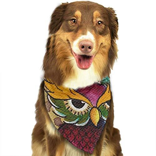 Cute Owl Lätzchen Trangle Kopftuch für Katzen Pupply Big Dog Soft ()