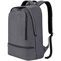REYLEO Laptop Backpack for Men Women Fits 15.6 Inch Laptop, Water Resistant Casual Daypack for Work Travel School College Business Trip Commute, 21L (Grey)