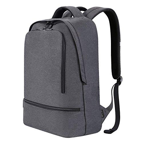 REYLEO Laptop Rucksack Herren Wasserabweisend 15.6 Zoll Laptop Tasche Backpack Für Arbeit Und Stadt Grau RB03
