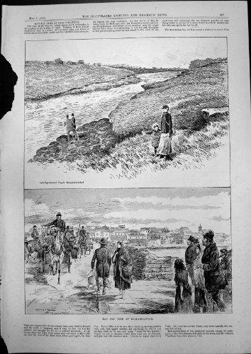 original old antique victorian print Peut Piloter les Automnes 1893 d'Erne Kathleen de Lac de Ballyshannon de Temps par original old antique victorian print