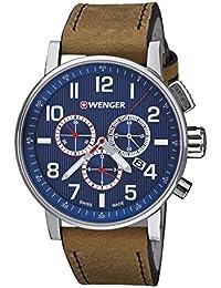 Wenger Unisex-Armbanduhr 01.0343.101 WENGER  ATTITUDE CHRONO Analog Quarz Leder 01.0343.101 WENGER  ATTITUDE CHRONO
