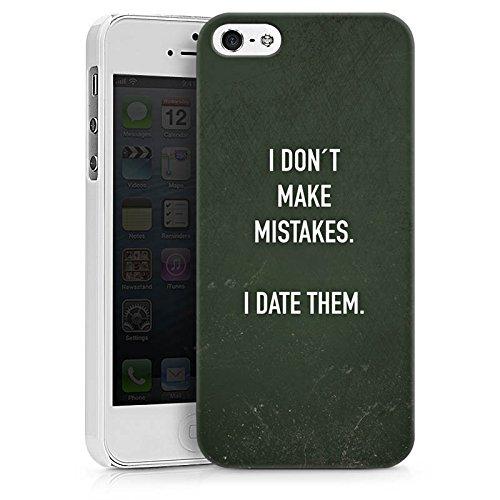 Apple iPhone X Silikon Hülle Case Schutzhülle Date Humor statement Hard Case weiß