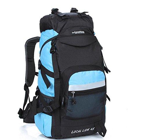 Bergsteigen, Latex, 45 l Wandern camping Rucksäcke große Kapazität Rucksack Tasche treasure blue