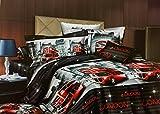 Fashion Pujari London Bus Cotton Bedshee...