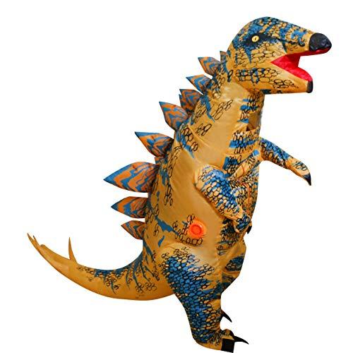 LOLANTA Disfraces de Fiesta para Adultos Divertidos Disfraces de Dinosaurio Disfraces de Halloween para Adultos (Estegosaurio, Adulto)